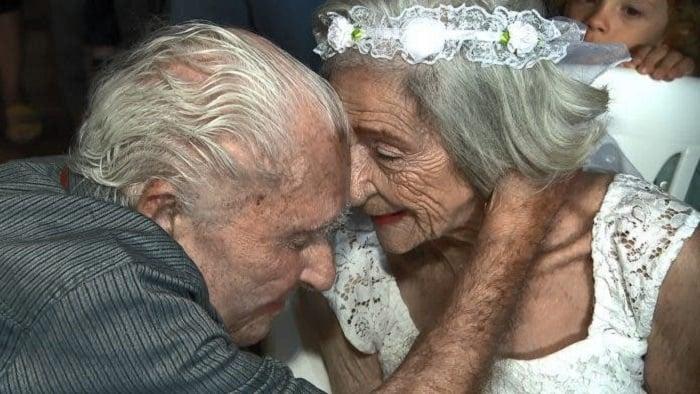 Marcelino y Branca el día de su boda felices de poder estar unidos en matrimonio
