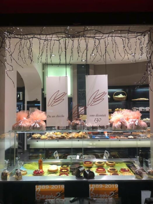Mostrador de la panadería de Gianni Bernardinello