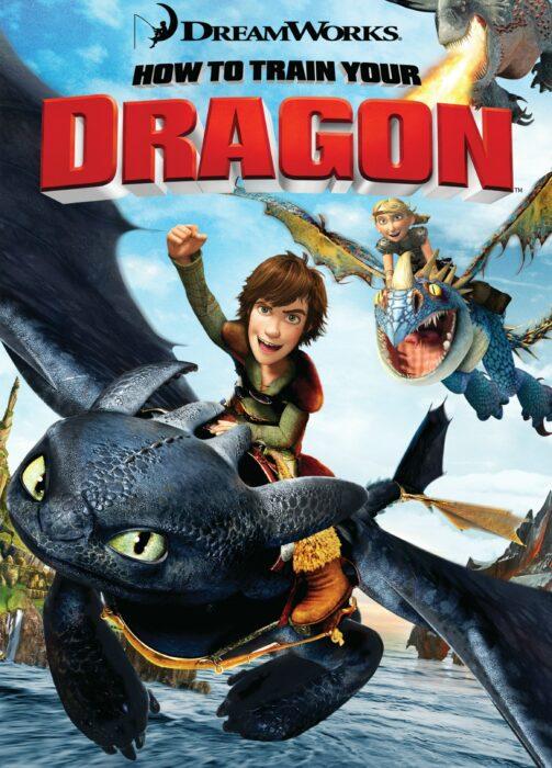 Poster de la película 'Cómo entrenar a tu dragón'