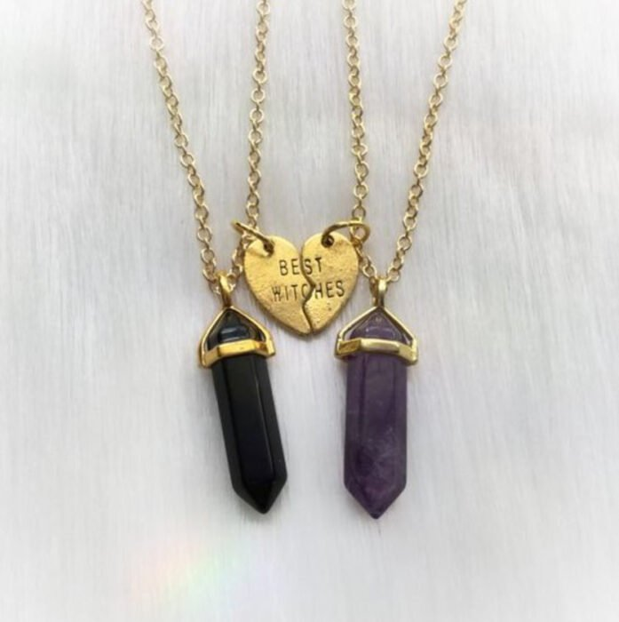 Friendship necklace with a quartz like I said