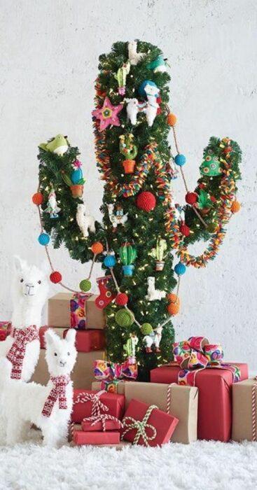 Árbol de navidad en forma de cactus