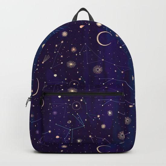 Mochila azul marino de galaxia