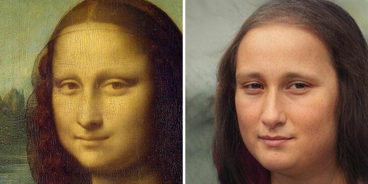 Mona Lisa transformada en versión humana con AI