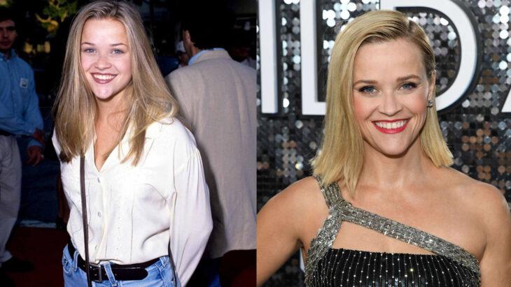 Comparación de Resse whiterspoon en 1995 vs actualmente