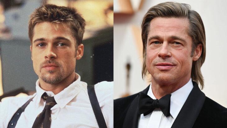 Comparación de Brad Pitt  en 1995 vs actualmente