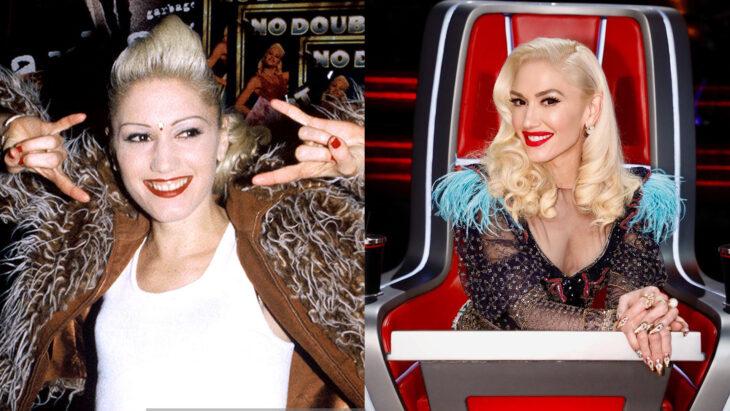 Comparación de Gwen Stefani en 1995 vs actualmente