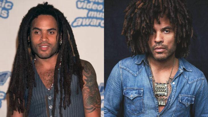 Comparación de Lenny Kravitz en 1995 vs actualmente