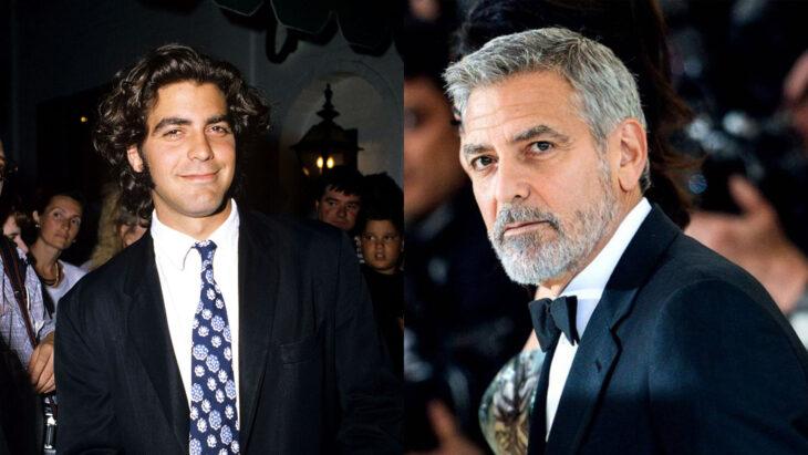 Comparación de George Clooney en 1995 vs actualmente