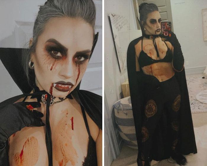 Demi Lovato disfrazada de vampiro