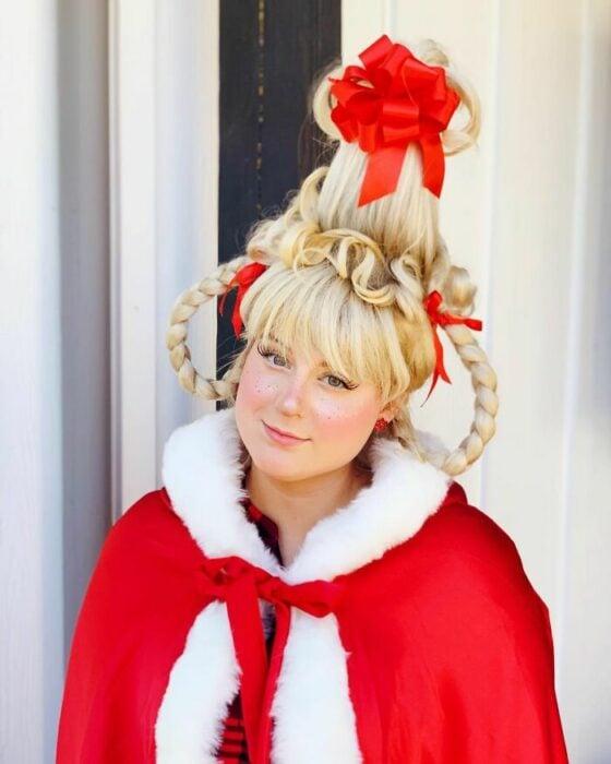 Meghan Trainor disfrazada como Cindy Lou