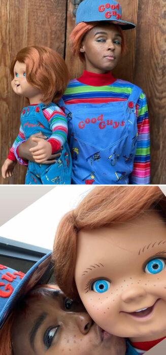 Janelle Monáe disfrazada como Chucky