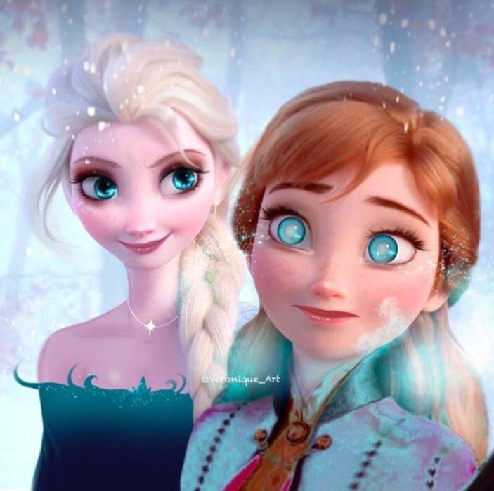 Princesa Elsa con atuendo de villana