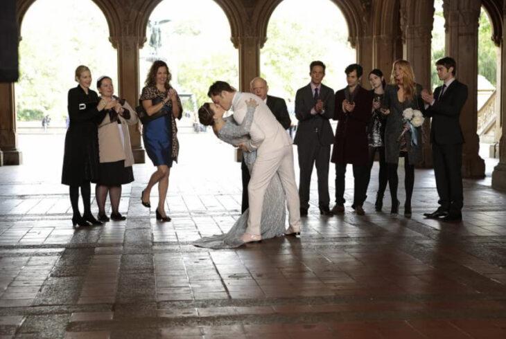 Escena de Gossip Girl cuando es la boda de Blair y Chuck