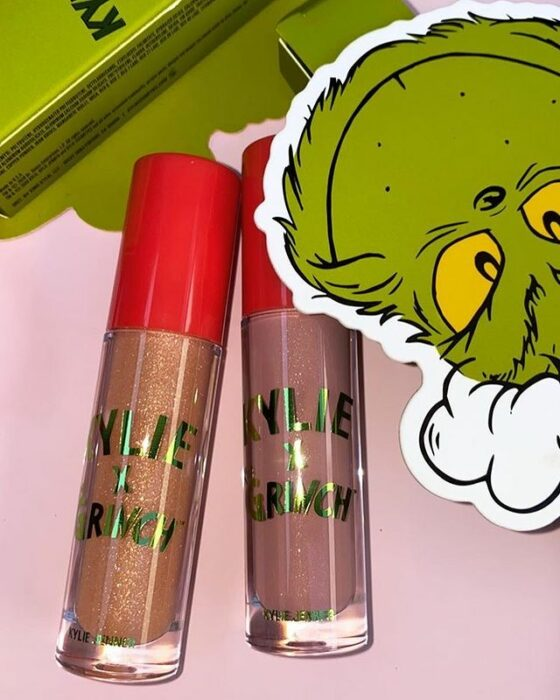 Gloss and decorative item from the 'Kylie x The Grinch' collection