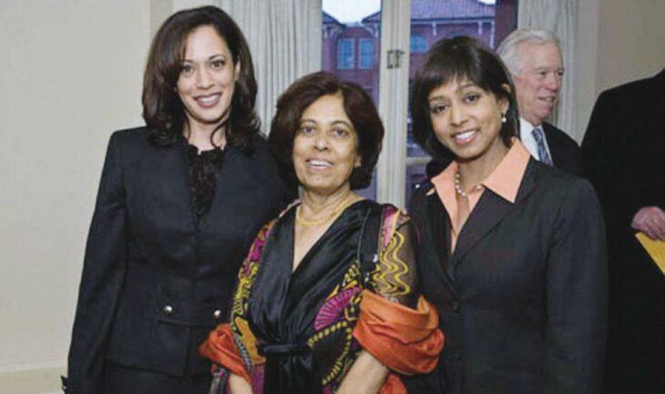 Shyamala Gopalan, junto a sus hijas Kamala Harris y su hermana