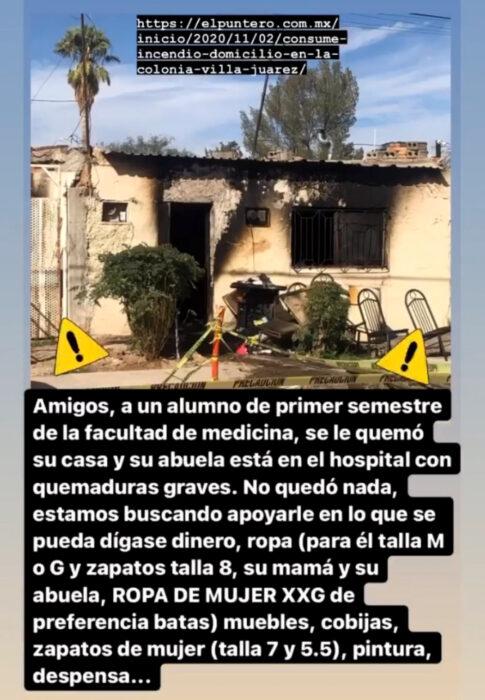 Familia en Chihuahua pierde todo en incendio de su casa y las redes sociales se unen para ayudarlo