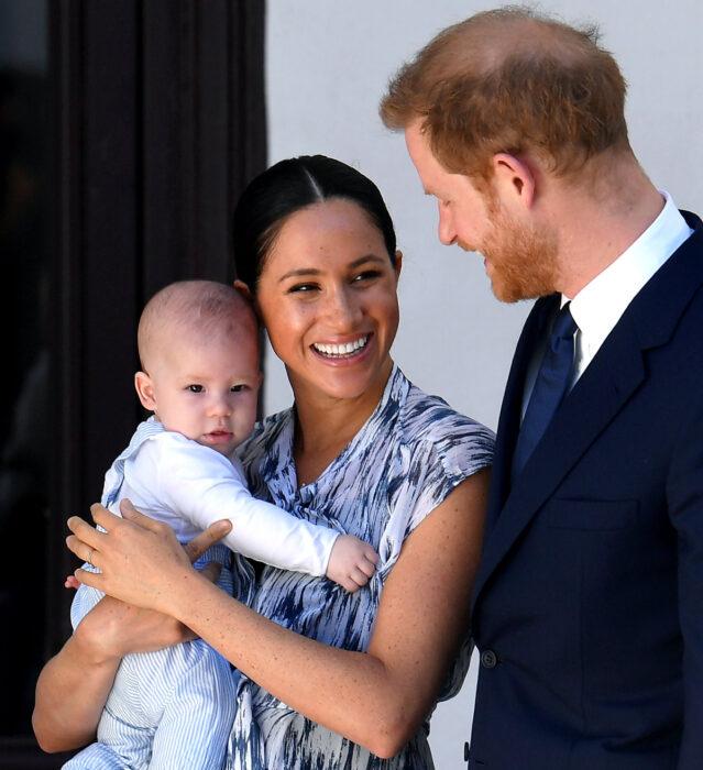 Meghan Markle, el príncipe Harry y su hijo Arcie Harrison Mountbatten-Windsor