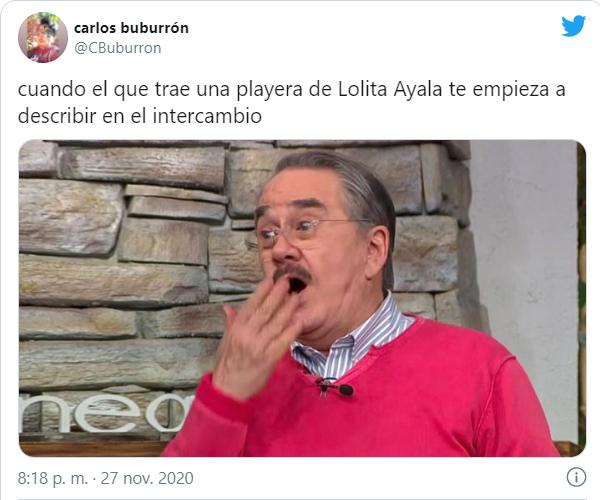 Tuits playeras de lolita ayala