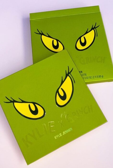 Eyeshadow palette from the 'Kylie x The Grinch' collection