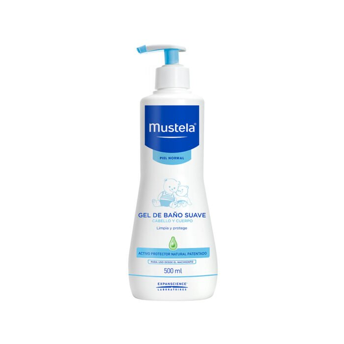 Mustela in cleansing gel; pharmacy products for beautiful skin