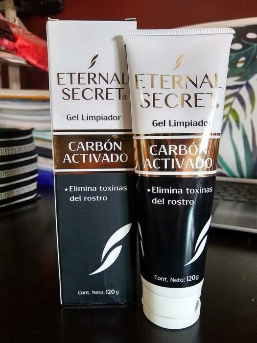 Eternal Secret cleansing gel with activated charcoal; pharmacy products for beautiful skin