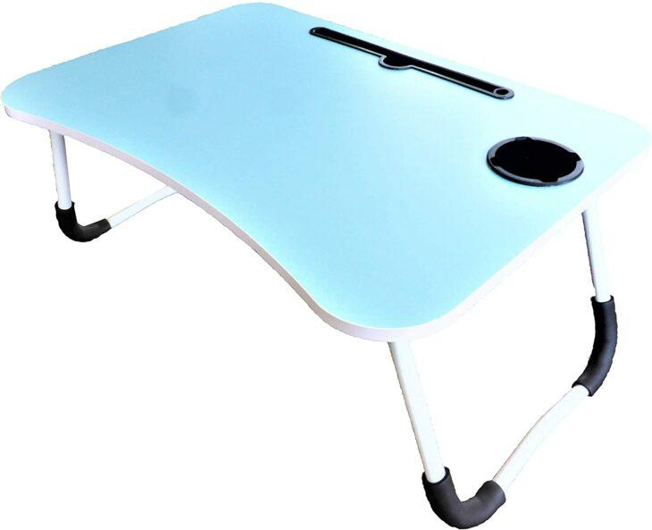 Mesa retráctil para colocar la comida o la laptop en la cama