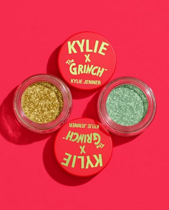Shimmer shades from the 'Kylie x The Grinch' collection
