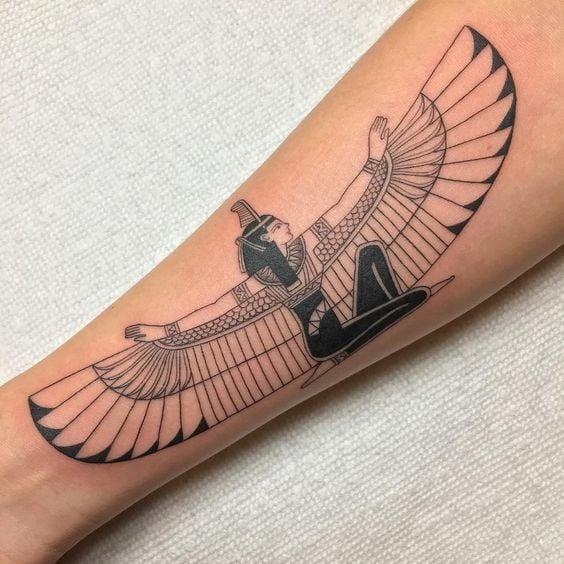Isis tattoo on arm