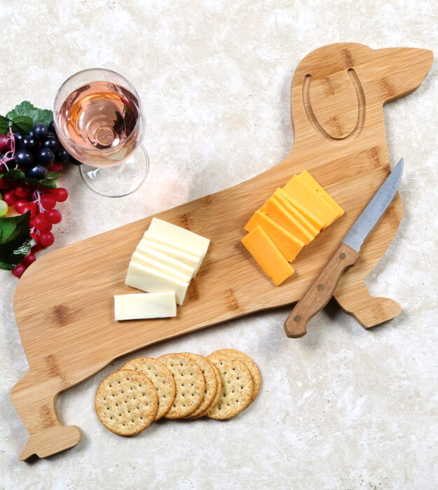 Utensilios bonitos y kawaii de cocina; tabla para picar alimentos en forma de perro salchicha