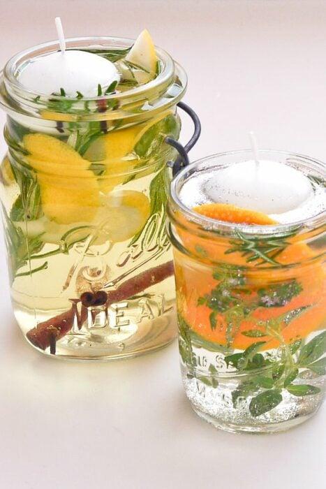 Vela antimosquitos con cascaras de frutos; Tutoriales para hacer tus propias velas aromáticas