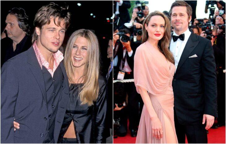 Brad Pitt y Jennifer Aniston; 10 Famosos que terminaron su relación a causa de una película