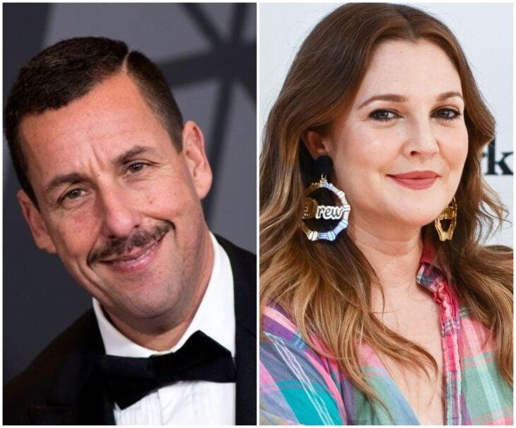 Adam Sandler y Drew Barrymore; 13 Famosos que han sido pareja en más de una película