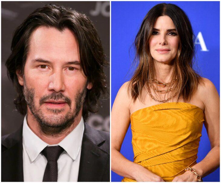 Keanu Reeves y Sandra Bullock; 13 Famosos que han sido pareja en más de una película