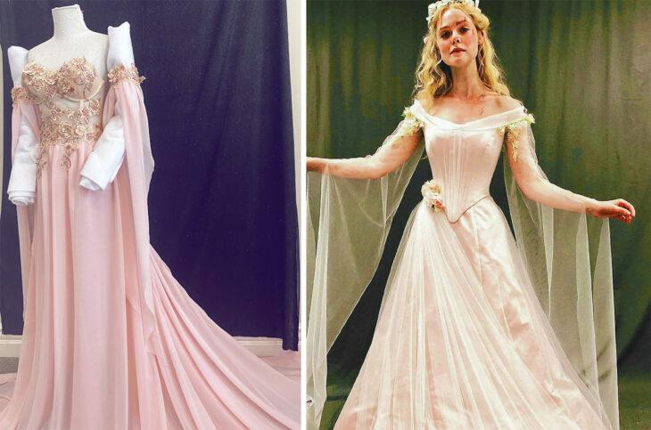 Vestido de la princesa Aurora confeccionado por Sarah Hambly