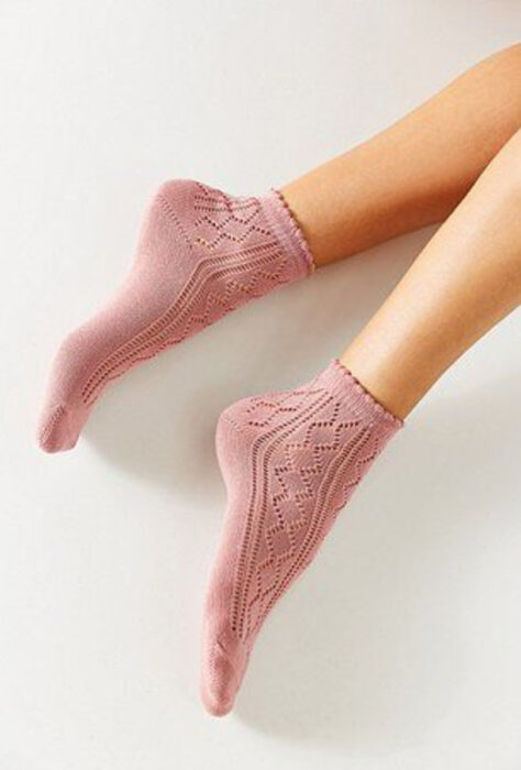 Pretty pale pink schoolgirl socks