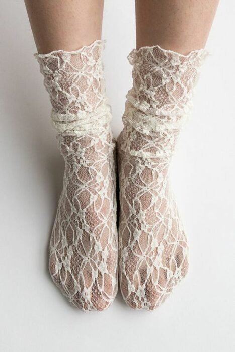 Pretty socks with lace style