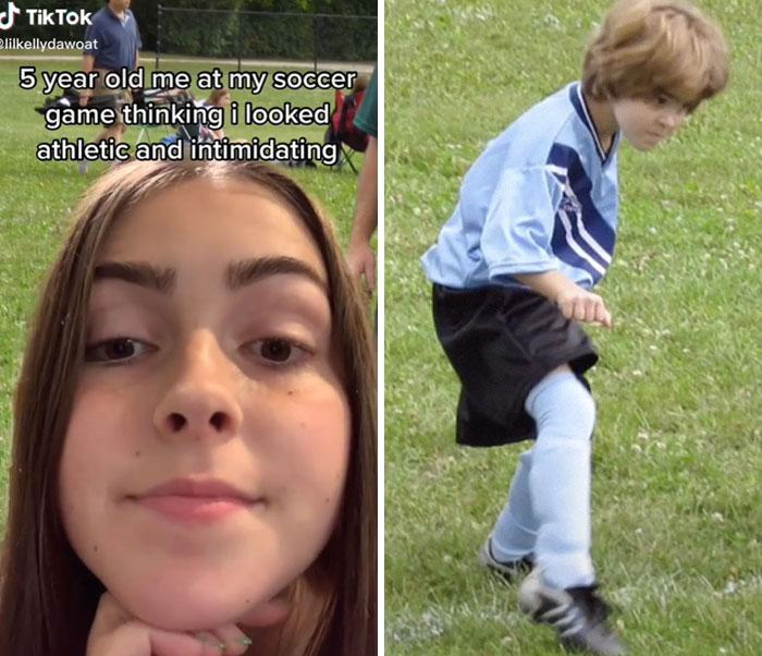 Chica comparte sus fotos de la infancia cuando jugaba futbol