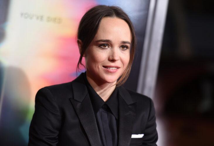 Elliot Page, conocido como Ellen Page en un alfombra roja