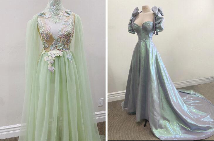 Vestido inspirado en hadas confeccionado por Sarah Hambly