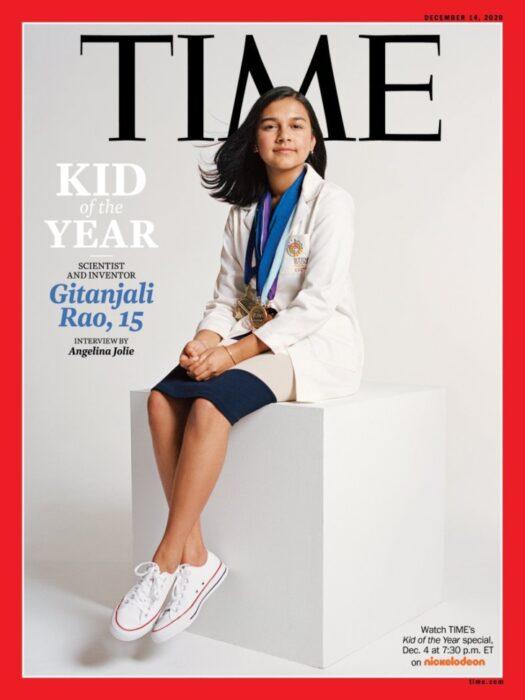 Gitanjali Rao, en portada de la revista Time; Joven es nombrada la primera 'Niña del Año' por la revista 'Time'