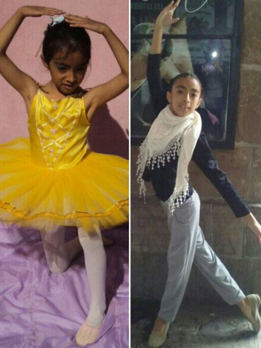 Agostina Arreguez, bailando ballet de niña; Joven indígena aprende ballet por YouTube; su talento la hizo ganar una beca