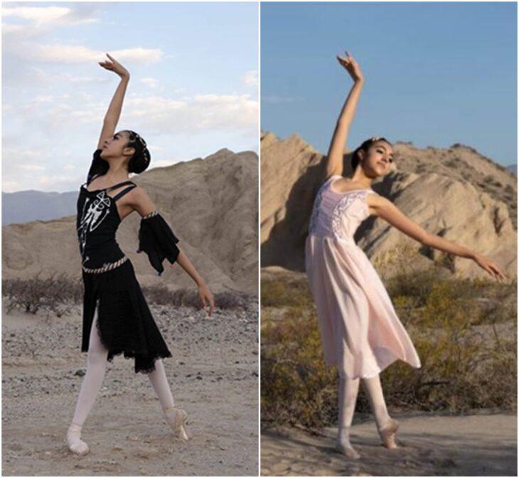 Agostina Arreguez, bailando ballet en el desierto; Joven indígena aprende ballet por YouTube; su talento la hizo ganar una beca