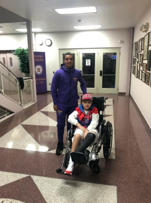 Ángel Ortero y Sonny Boyd en el hospital