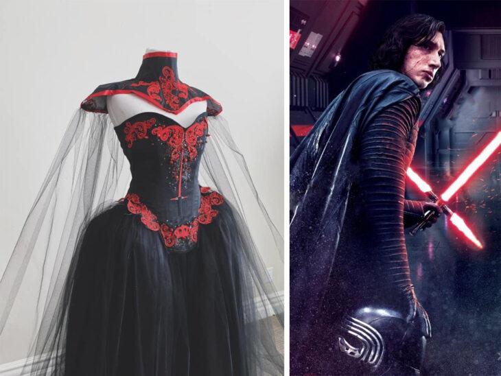 Vestido inspirado en Kylo Ren confeccionado por Sarah Hambly