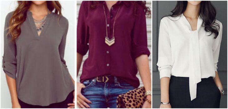 Chicas llevando camisas con mangas 3/4 de colores; Guía rápida para usar mangas 3/4 sin perder el glamur