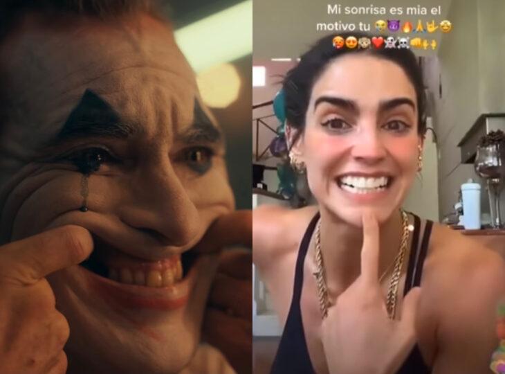 Los memes virales del 2020; Bárbara de Regil sonriendo junto con el Jóker