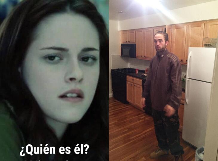 Los memes virales del 2020; Robert Pattinson parado en la cocina, Bella Swan