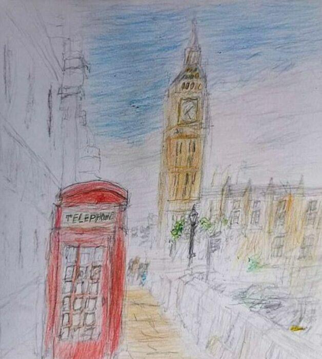Dibujo hecho por alex baker niño autista