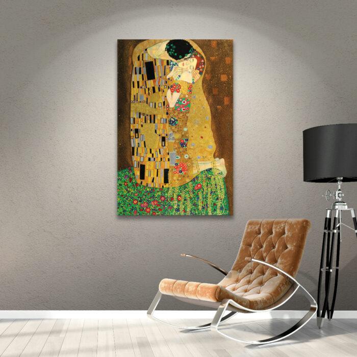 Regalos bonitos para el intercambio de Navidad; cuadro para la pared de 'El Beso' de Gustav Klimt