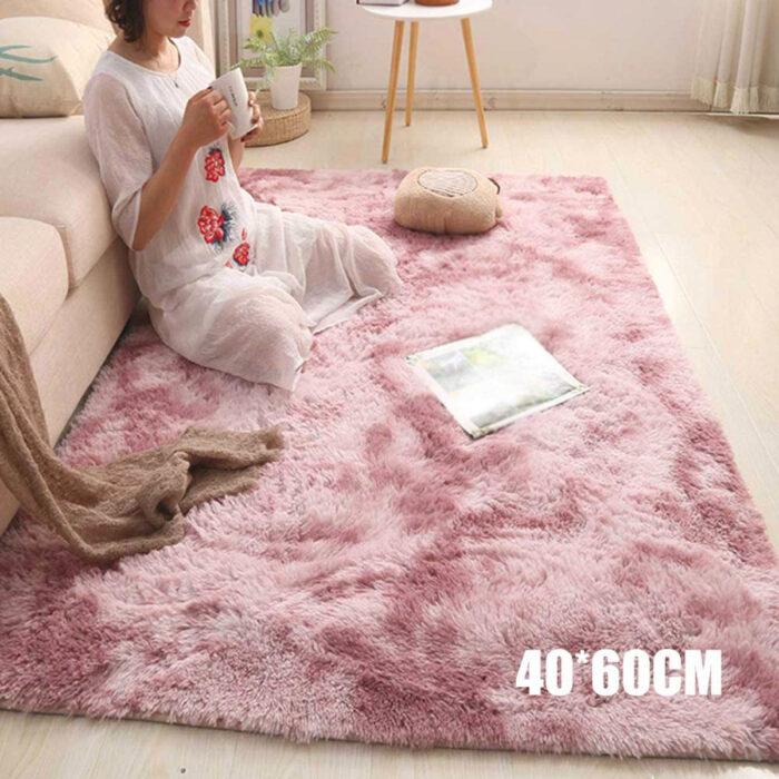 Regalos bonitos para el intercambio de Navidad; alfombra rosa peluda para la habitación
